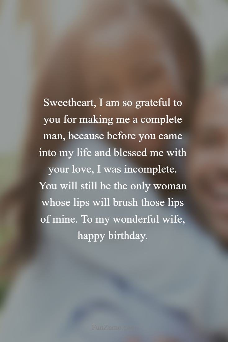 Birthday Poems For Your Wife