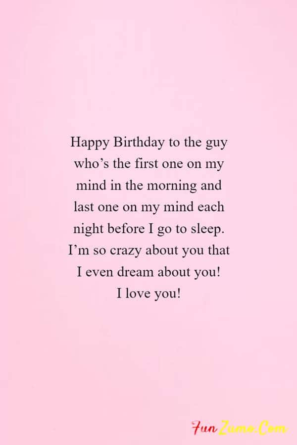 Birthday Wishes for Boyfriend Long Distance - Happy Birthday Wishes