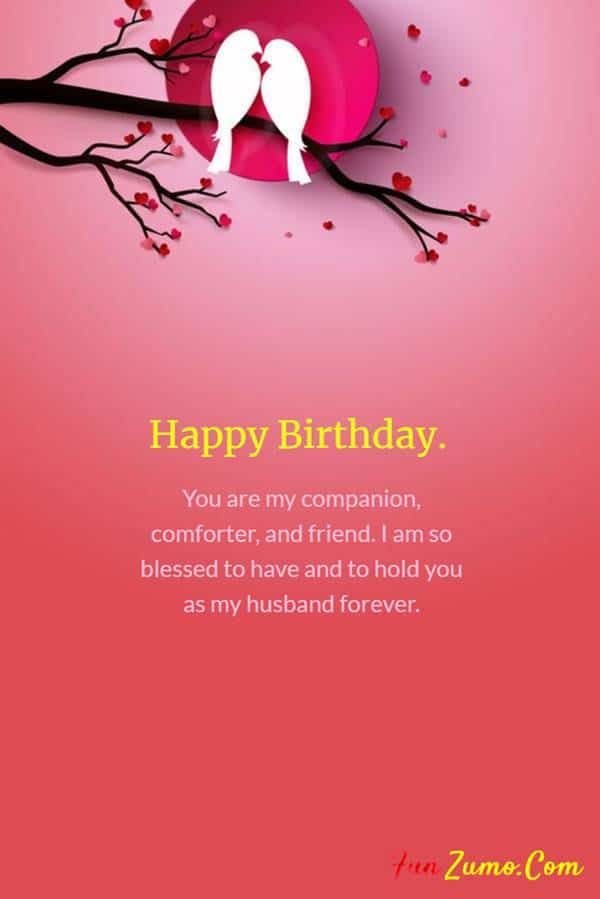Cute and Romantic Birthday Wishes for Husband - Part 8 | Birthday wish for husband, Wishes for husband, Romantic birthday wishes