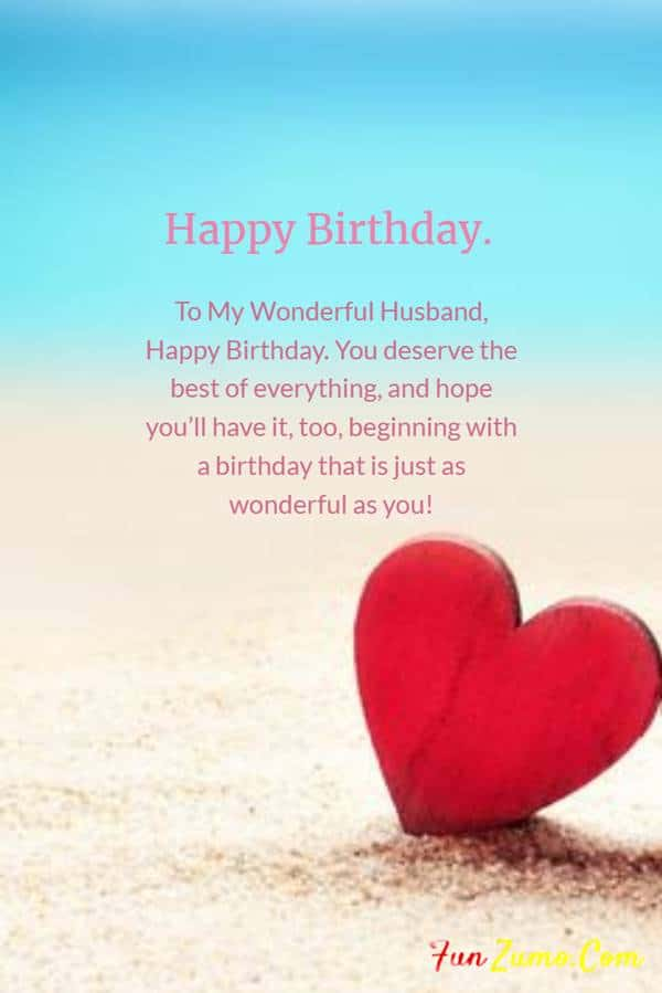 Romantic Birthday Wishes for Husband | happy birthday to my husband quotes, birthday wishes for husband with love