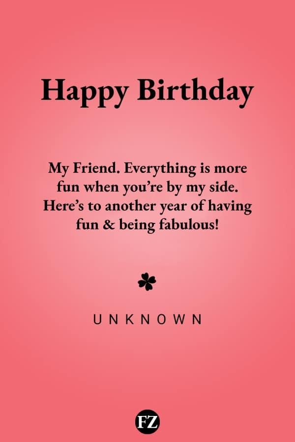 Birthday Wishes for Friends & Best Friend - Happy Birthday My Friend!
