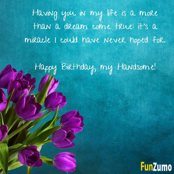 Happy Birthday Romantic Quotes | Husband birthday quotes, Birthday quotes for girlfriend, Birthday wish for husband