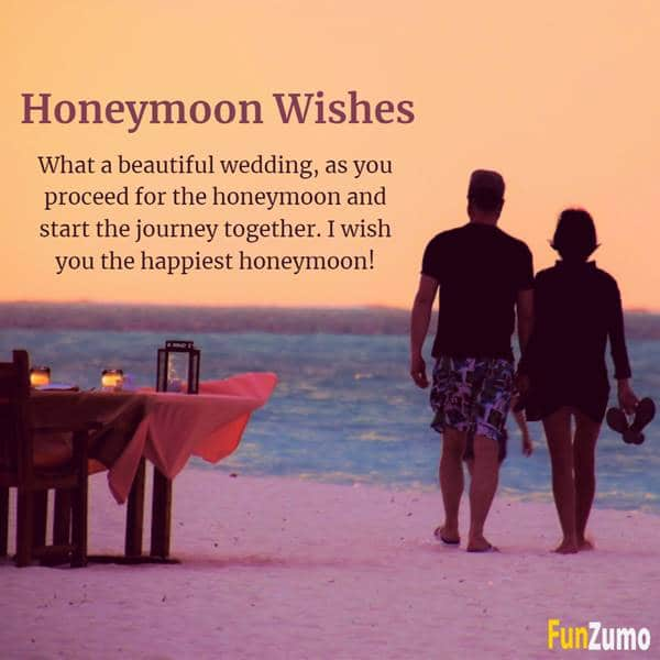 Honeymoon Wishes and Messages for Newly Wed Couple