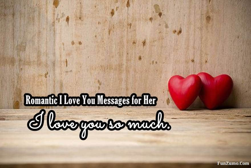 Romantic I Love You Messages for Her | love messages, heart touching i love you message, love images