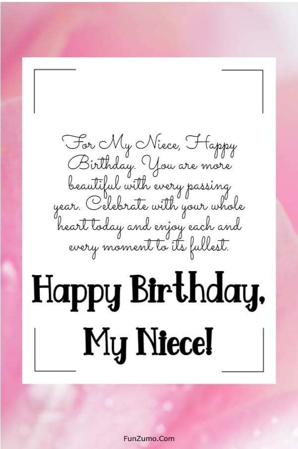 245 Happy Birthday Niece Wishes Quotes Messages | happy birthday favorite niece, birthday message for niece from aunt, birthday message for niece