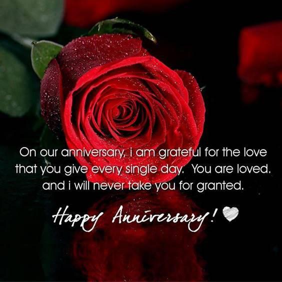 Happy anniversary to my dear wife!