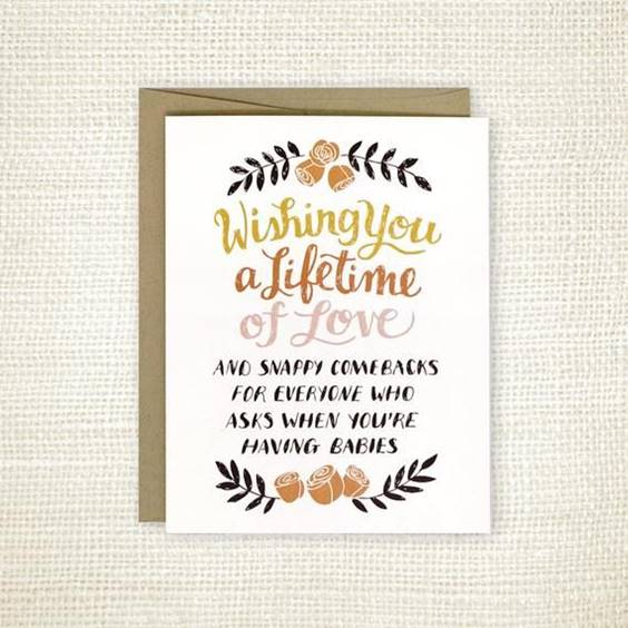 Funny Wedding Wishes Card