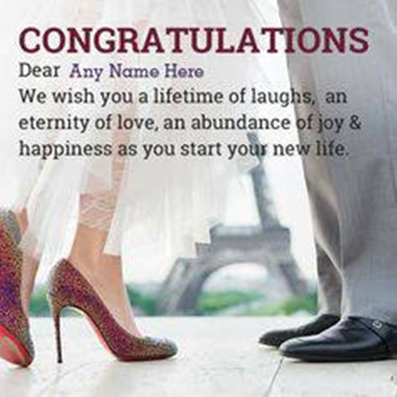 Congratulations To Wedding Wishes