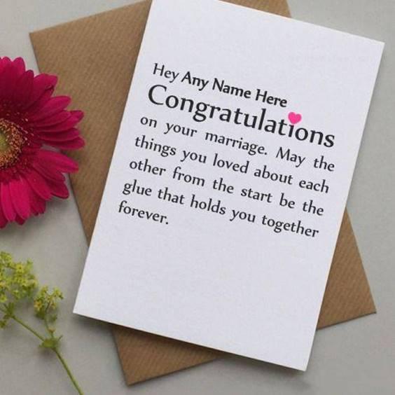 Congratulations Wedding