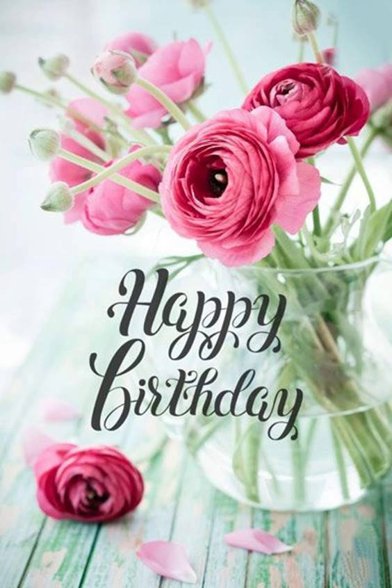 best happy birthday flowers message