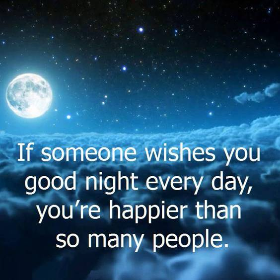 good night greetings for him