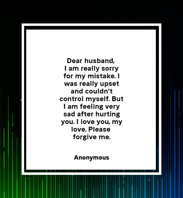 romantic sorry images for husband